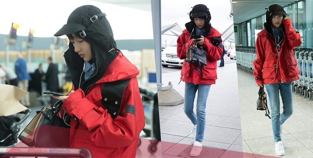 周冬雨现身机场 素颜素装随性无包袱