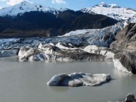 气候变化正在发生:冰川融化前后对比图