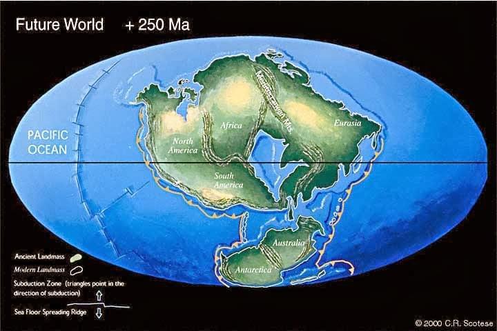 2.5亿年后地球将形成全新的超级大陆 那时谁主沉浮?的照片 - 1