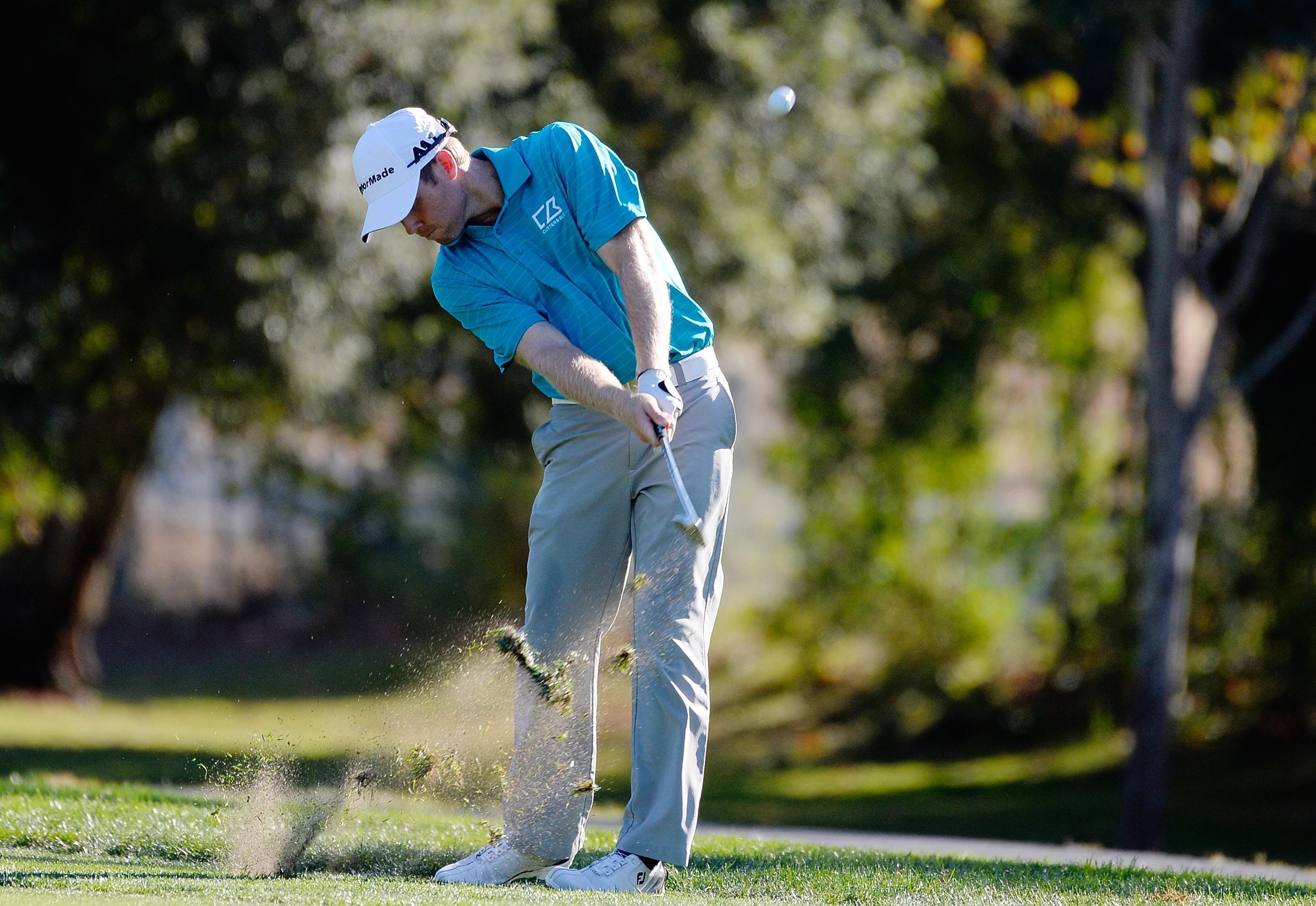 泰勒-邓肯在西夫韦公开赛第二轮比赛中。Robert Laberge Getty Images