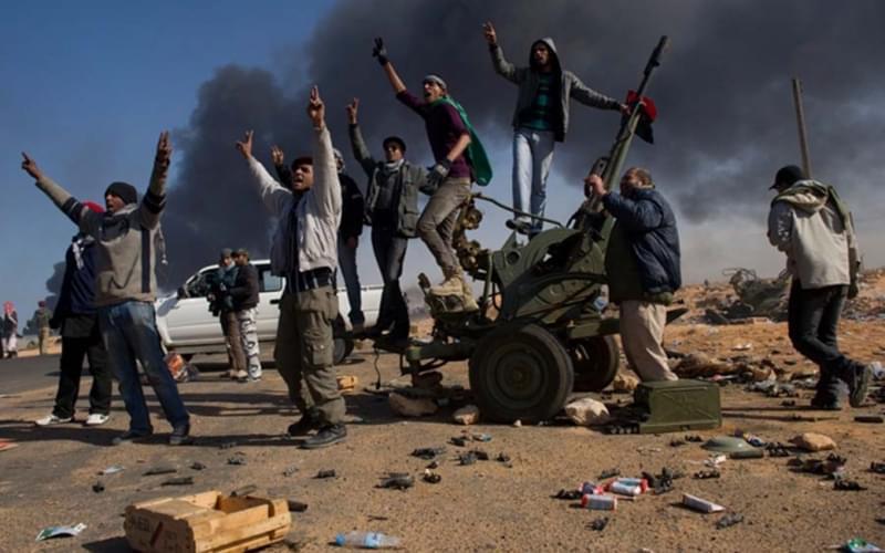 2011年,利比亚的反政府武装