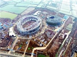 青岛市民健身中心明年9月投用美丽堪比鸟巢