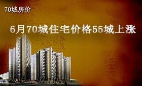 6月70城住宅价格55城上涨 济南房价环涨0.8%