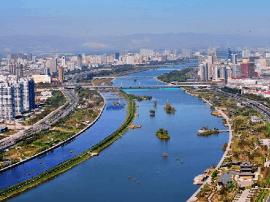 楼阳生宣布七河生态修复工程全面启动开工