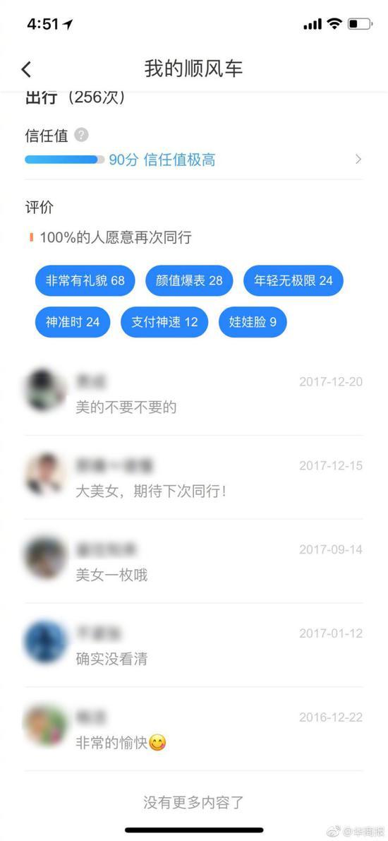 女乘客爆料在滴滴app被标注大美女 客服:删不了