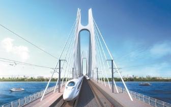 福厦高铁晋江段推进建设 安海湾特大桥引桥已打桩