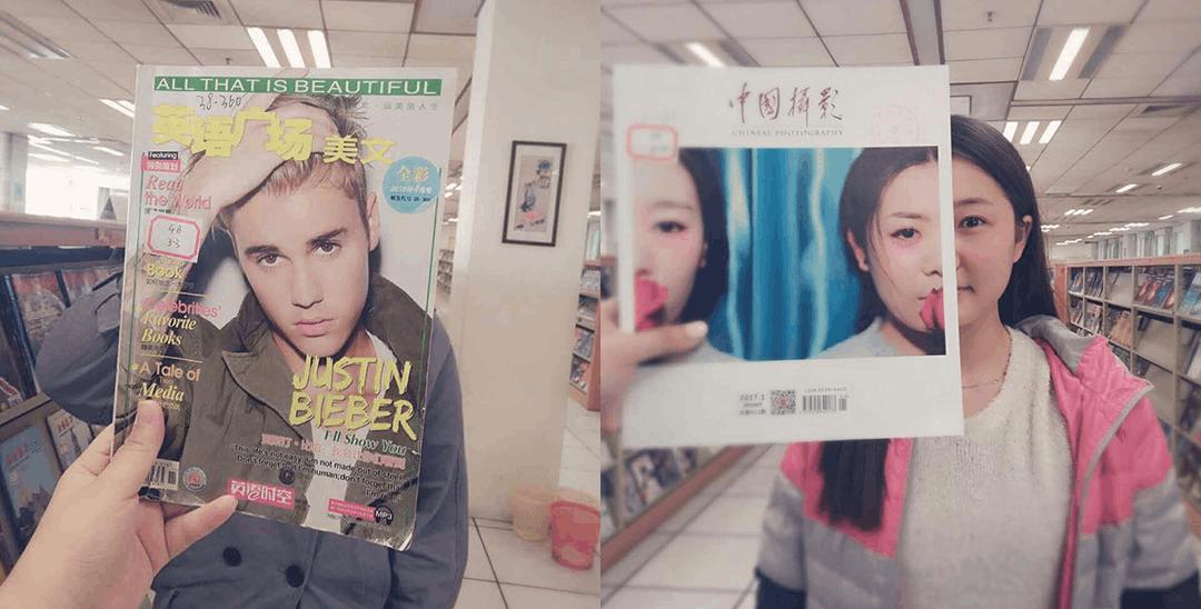 郑州大学一组图书馆照火遍网络