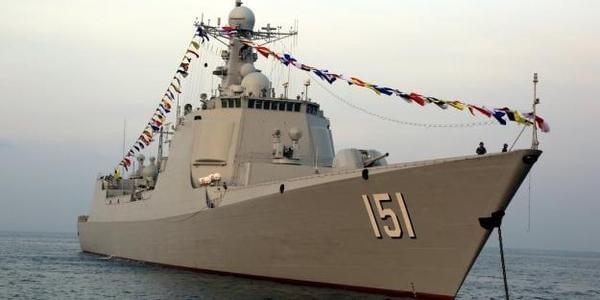 中国海军参加泰国国际阅舰式