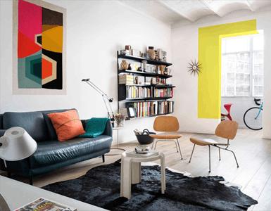 现代简约风格装修效果图 简单色块造就明快公寓