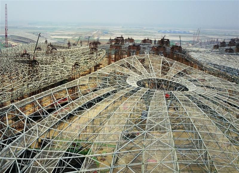 资料图:北京新机场施工现场