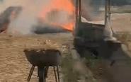 泰州一行驶中轿车突发自燃 烧成空壳