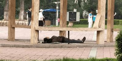 九台南山公园一男子疑似自杀