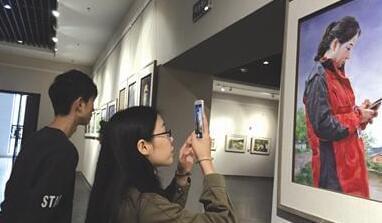 百名油画家走进信阳 写生作品在市博物馆开展