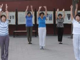 体院学生专为社区居民量身打造健身操