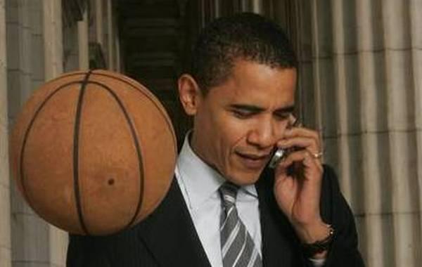 篮球总统奥巴马:被肘伤缝12针