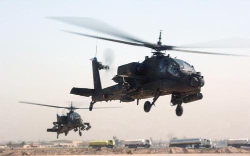 以色列国防军一架阿帕奇直升机坠毁 致1死1伤