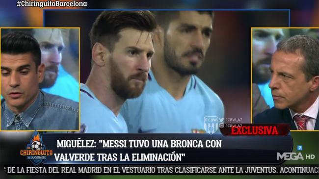 曝梅西大闹更衣室 球员:我们把欧冠冠军送给了皇马