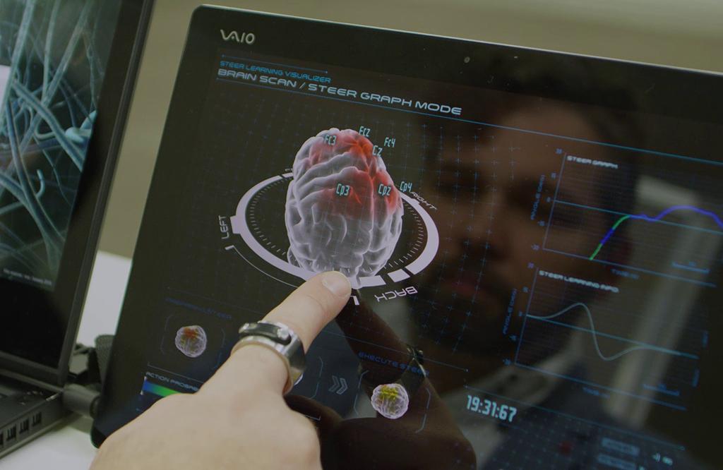 你的车变得更聪明了 日产展示脑控车技术