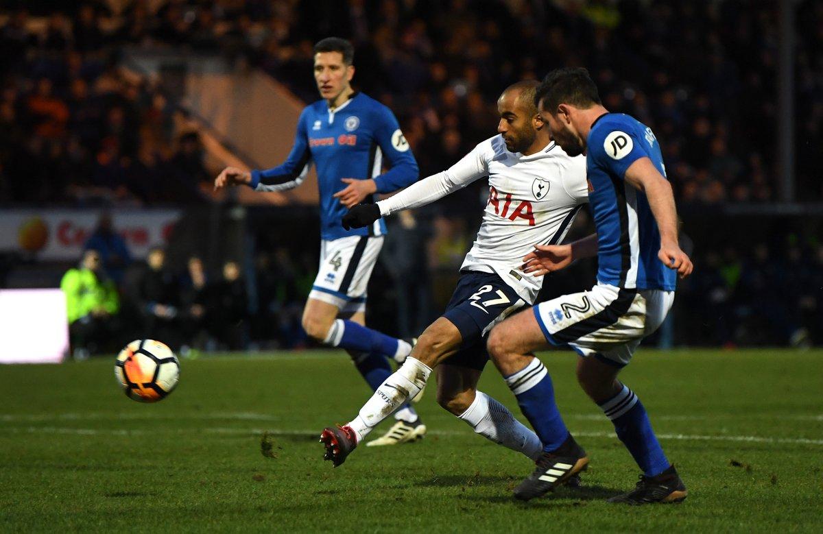 足总杯-小卢卡斯凯恩破门 热刺2-2遭英甲队绝平