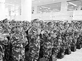 阳江首批254名海陆空新兵昨启程赴军营