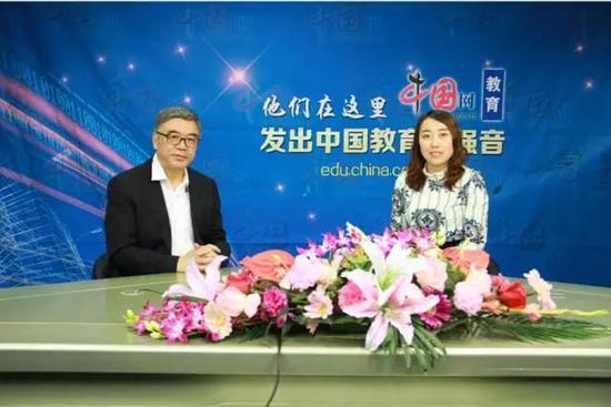朱永新教授做客中国网《教育名人堂》