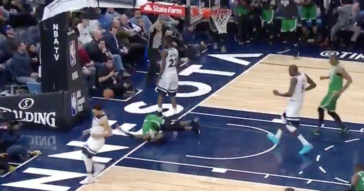【影片】嚇人!Brown灌籃滑手險摔斷脖子  詹姆斯立即發Twitter祝福:為你祈禱!