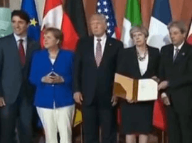 七国集团峰会闭幕:共同反对贸易保护主义