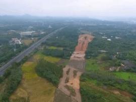 国道G325线改线工程一标段清表过半