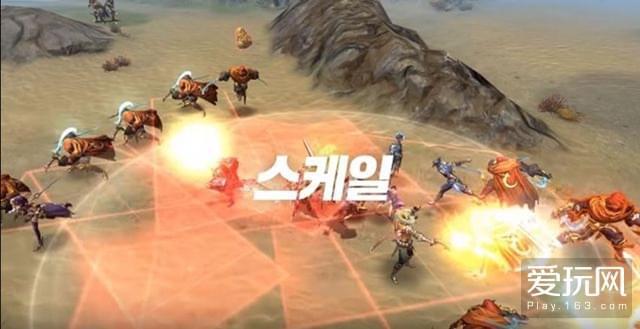 韩商Gamevil手游新作 《炽血皇战》开启封闭测试