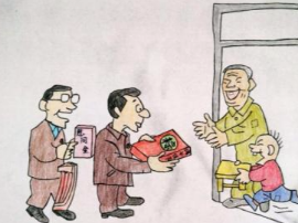 陕州区领导看望慰问驻村干部贫困群众