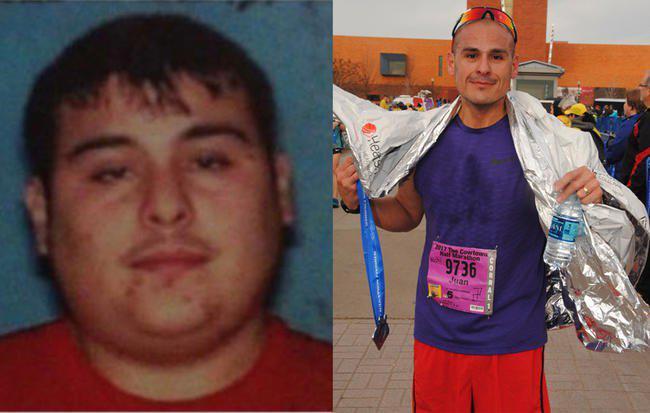 男子14岁抽烟喝酒258斤 现已跑21次全马减重100斤