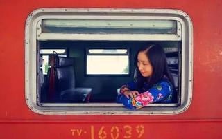 挂着蓝皮火车去旅行