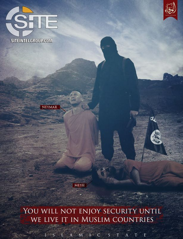 ISIS斩完梅西C罗又欲袭击世界杯:无人机炸弹来了