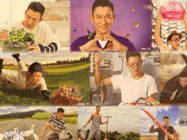 刘德华拍年历呼吁环保 扮农夫等多个角色