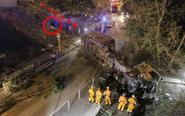 香港货车冲撞巴士站致1死