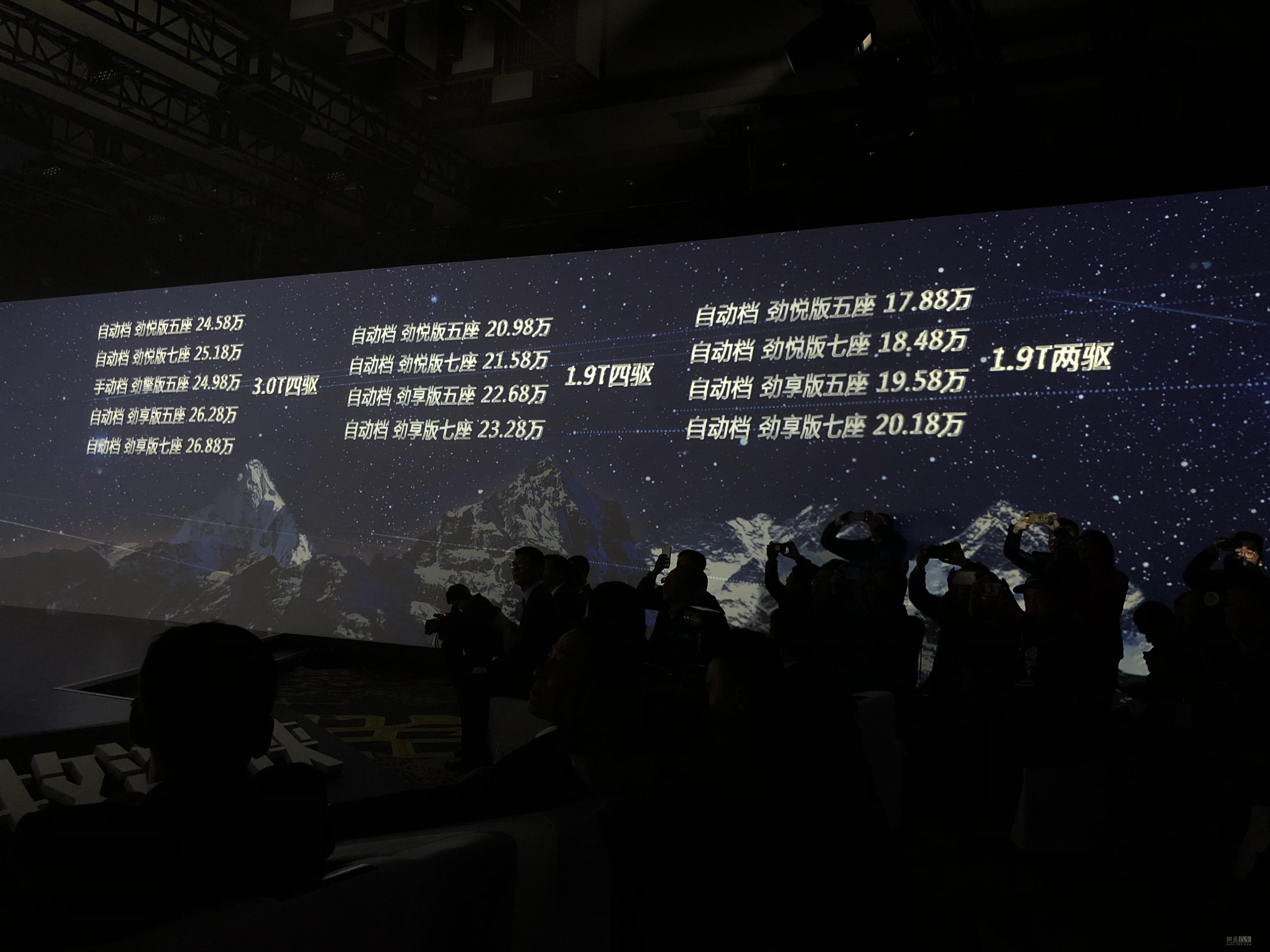 售17.88-26.88万 2018款mu-X牧游侠上市