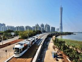 广州有轨电车早高峰提速:5分钟一趟 列车增至6辆