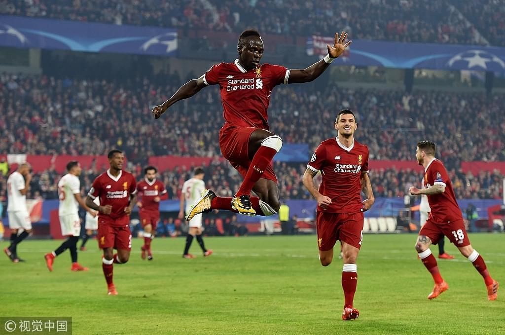 马内欧冠首球 利物浦3-0到3-3仍未出线