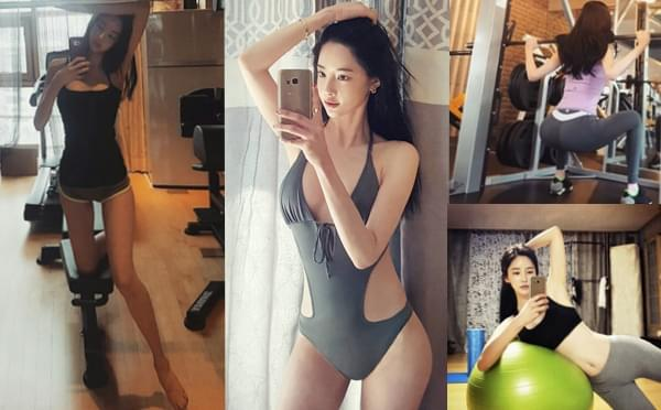韩国健身嫩模长相酷似AB 无数宅男梦中情人