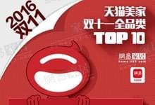 2016天猫双十一家居品牌排
