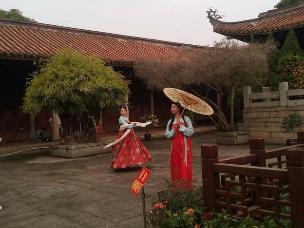 漳州旅游过程中在文庙偶遇汉服爱好者