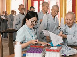 小店区为佛教教职人员送上贴心的健康服务