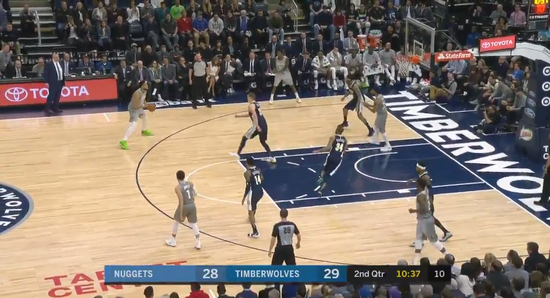 【影片】Towns三分線外一步過Jokic  突破掄臂暴扣展必勝決心-黑特籃球-NBA新聞影音圖片分享社區