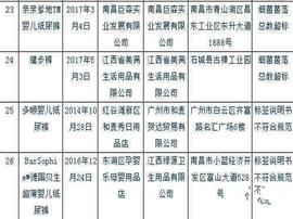 江西通报尿裤(布)抽检结果:2种纸尿裤细菌超标