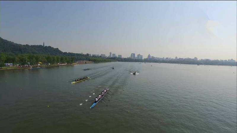 世界名校赛艇队聚首西湖 国际杭城再掀风潮