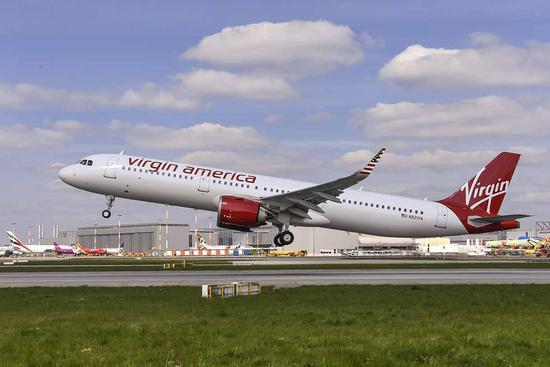 空客首架a321neo飞机交付维珍美国航空