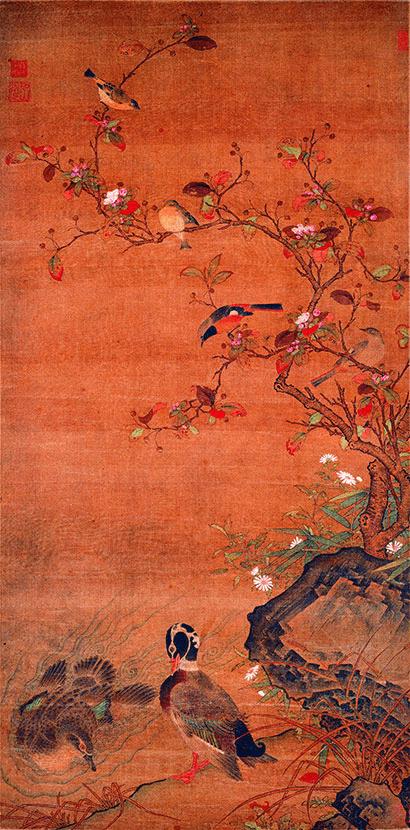 """两两相顾 传统花鸟画里的""""爱情鸟"""""""
