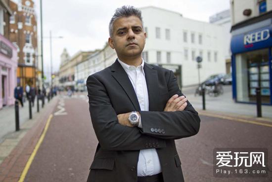 现任伦敦市长萨迪克·汗