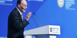 王岐山出席圣彼得堡经济论坛