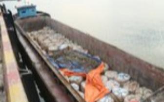 防城港查获一艘货船 查扣90吨国家禁止进口固体废物